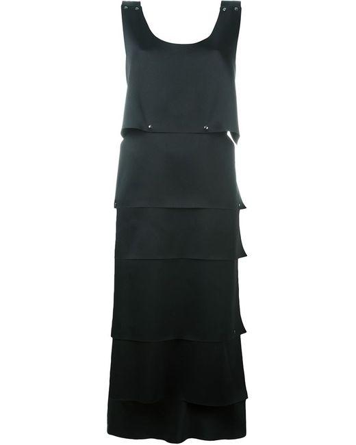 Jil Sander | Женское Чёрное Платье Без Рукавов