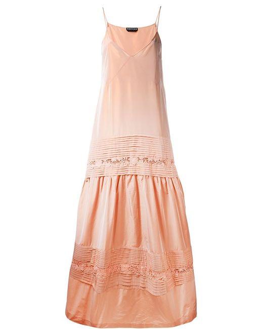 Rochas | Женское Жёлтое Платье Без Рукавов