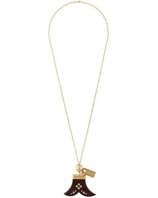 Chloe | Женское Серебристый Chloé Wooden Charm Necklace