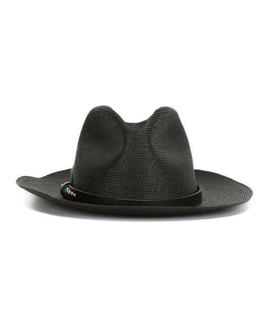 HTC Hollywood Trading Company | Мужская Чёрная Шляпа С Ремешком С Заклепками