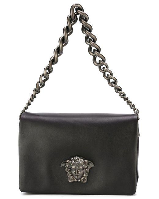 Versace   Женская Чёрная Сумка На Плечо Medusa