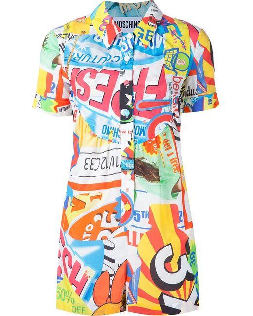 Moschino   Женское Многоцветный Collage Print Playsuit