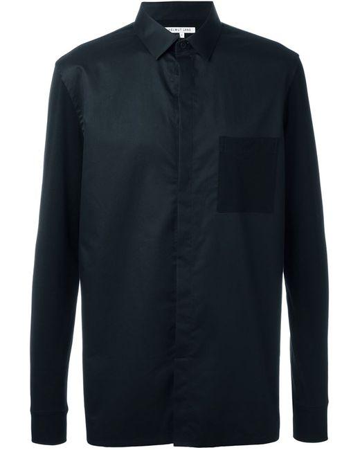 Helmut Lang | Мужская Чёрная Рубашка С Нагрудным Карманом