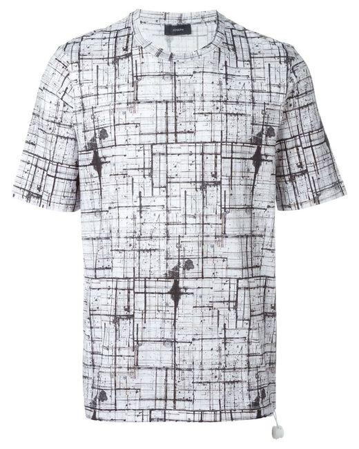 Joseph | Мужское Белый Abstract Check T-Shirt