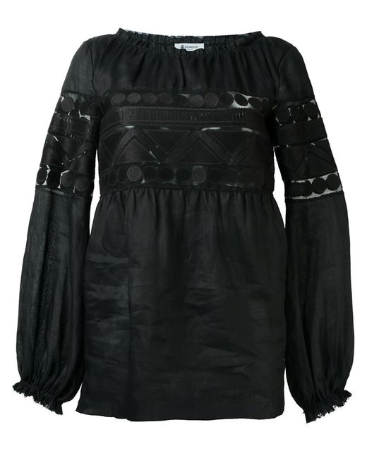 Dondup | Женская Чёрная Блузка С Вышивкой