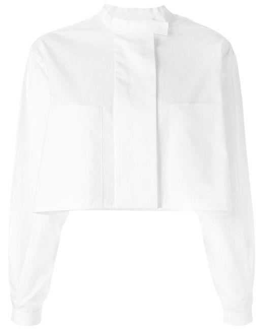 Ellery | Женское Белый Banded Collar Cropped Shirt