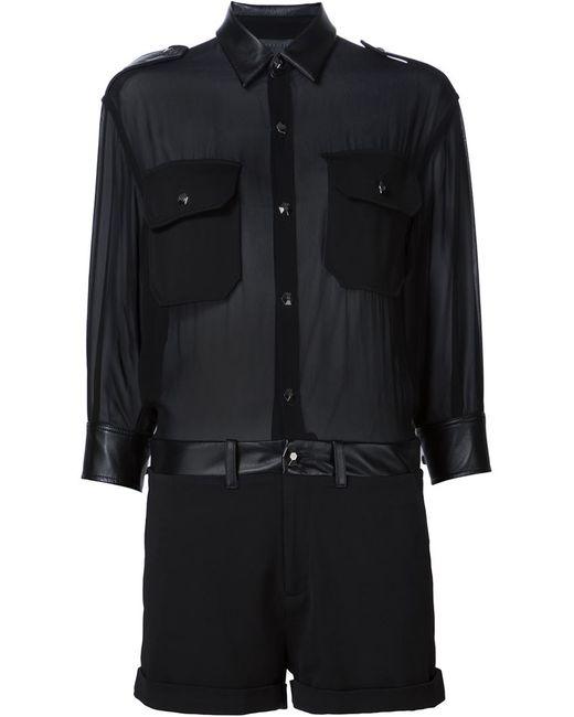 Philipp Plein   Женское Чёрный Sheer Playsuit