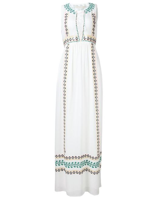 Vanessa Bruno | Женское Белый Embroidered Details Maxi Dress