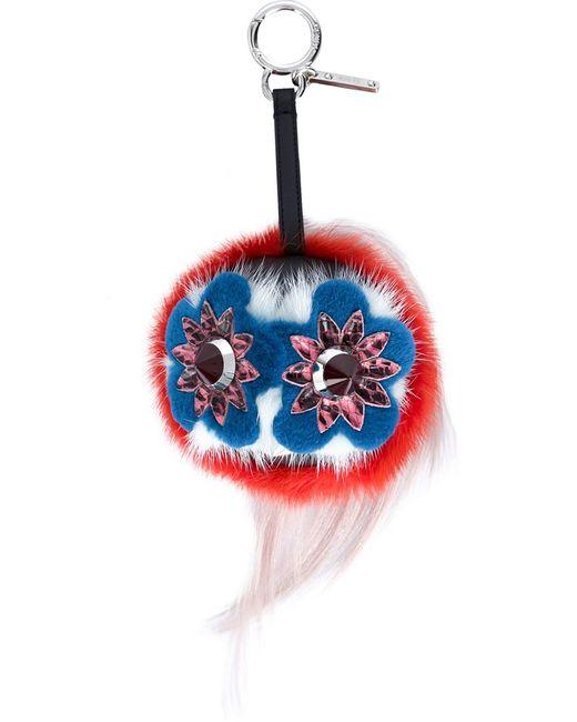 Fendi   Женская Многоцветная Подвеска На Сумку Bag Bugs