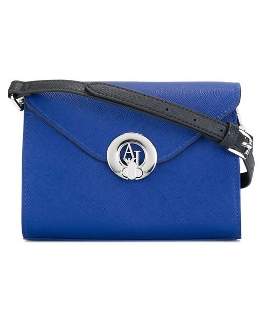 ARMANI JEANS | Женская Синяя Сумка С Логотипом