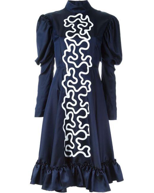 J.W. Anderson | Женское Синее Платье С Графическим Принтом