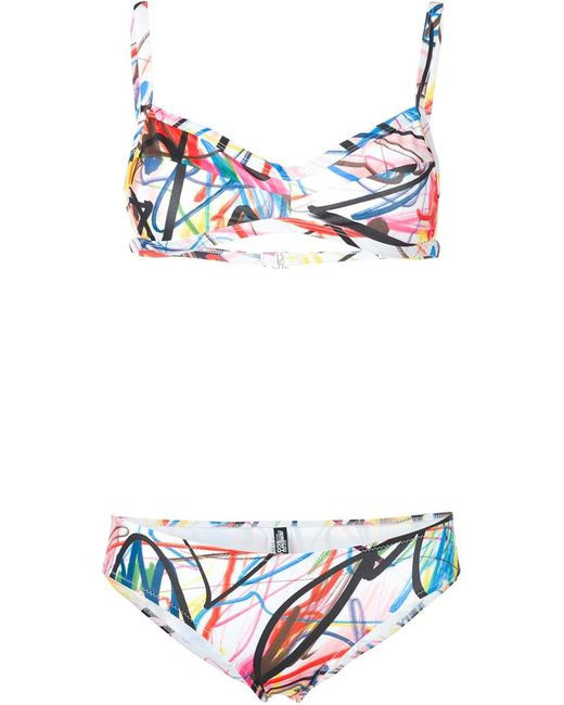 Jeremy Scott | Женское Многоцветный Scribble Print Bikini