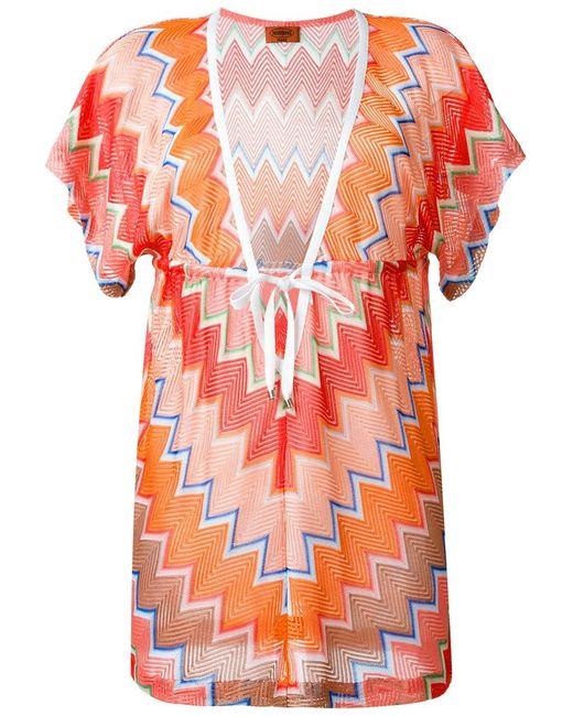 Missoni | Женское Платье-Кафтан C V-Образным Вырезом