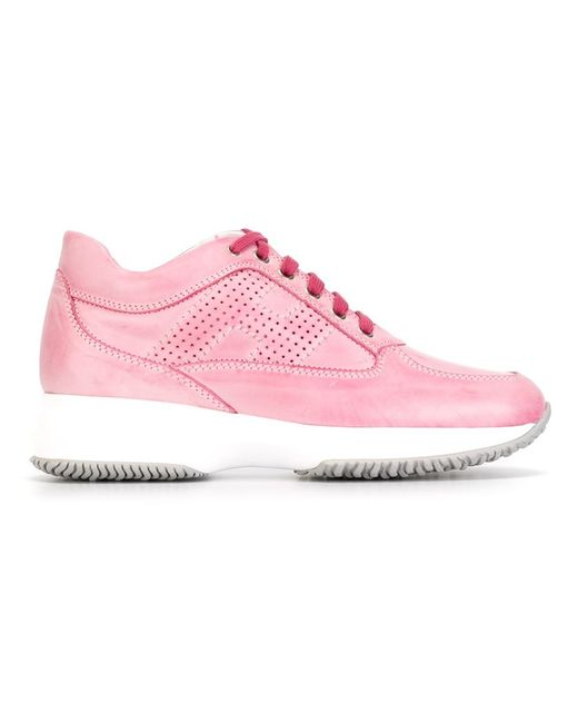 Hogan | Женские Розовые Кроссовки С Панельным Дизайном