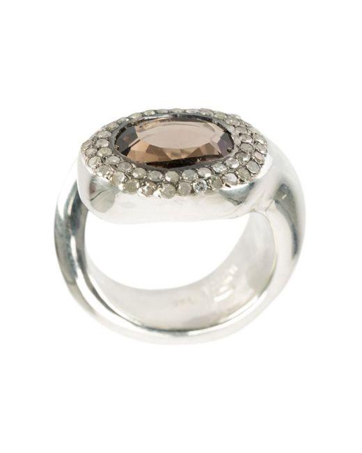 ROSA MARIA   Женское Серебристый Quartz Ring