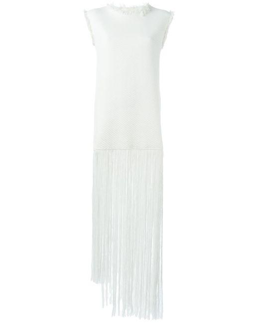 Ports | Женское Белое Трикотажное Платье Fully Fashioned