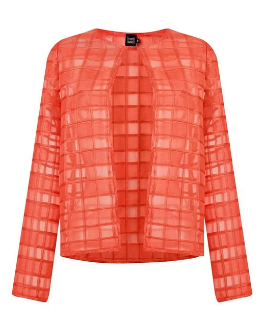 FERNANDA YAMAMOTO | Женское Красный Sheer Panel Coat