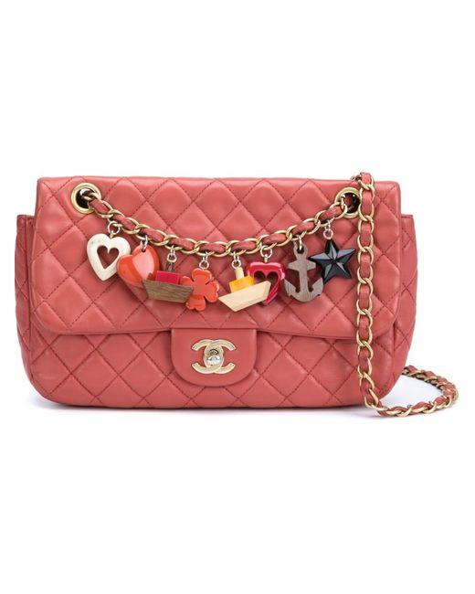 Chanel Vintage | Женская Красная Стеганая Сумка Через Плечо