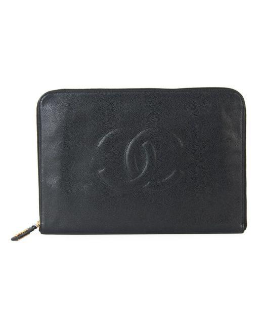 Chanel Vintage   Женский Чёрный Клатч