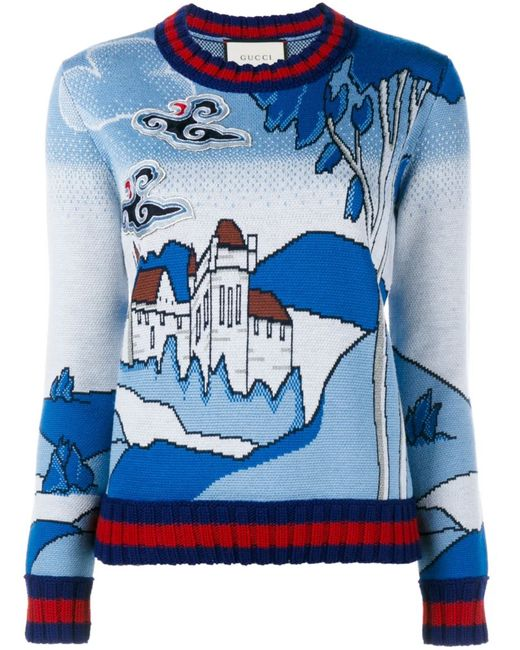 Gucci | Женское Синий Castle Knit Jumper