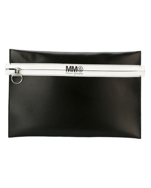 MM6 by Maison Margiela | Женский Чёрный Большой Клатч На Молнии