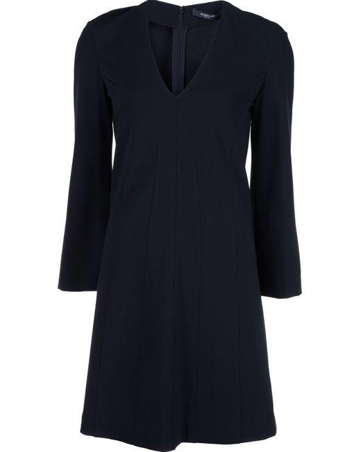 Derek Lam   Женское Чёрное Платье С V-Образным Вырезом