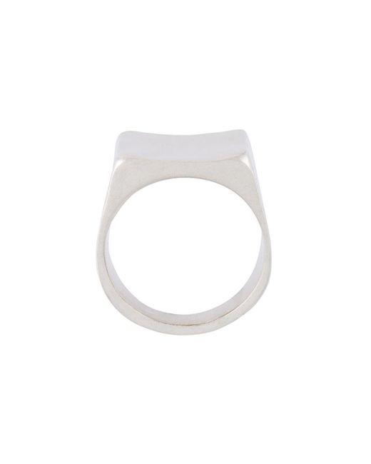 Maison Margiela   Женское Серебристый Square Ring