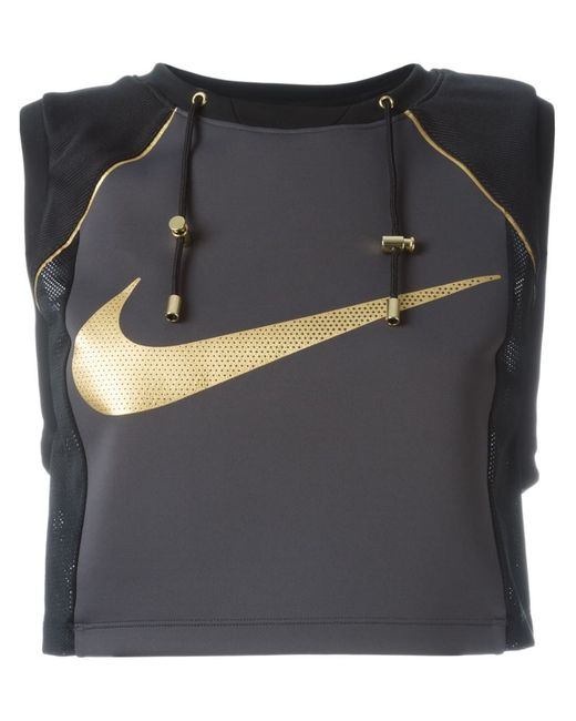 Nike   Женский Чёрный Укороченный Топ Lab X Olivier Rousteing