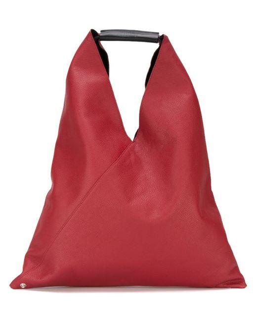 MM6 by Maison Margiela | Женская Красная Большая Смука-Тоут Треугольной Формы