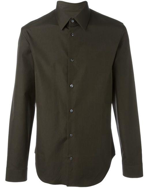 Maison Margiela | Мужская Зелёная Классическая Рубашка
