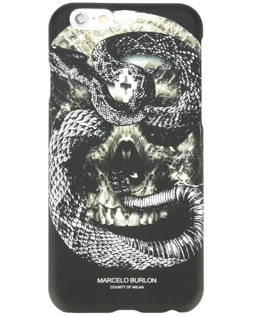 MARCELO BURLON COUNTY OF MILAN | Чёрный Чехол Для Iphone 6/6s Bayo