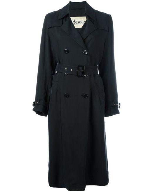 Herno | Женское Чёрный Midi Waterproof Trench Coat Size 42