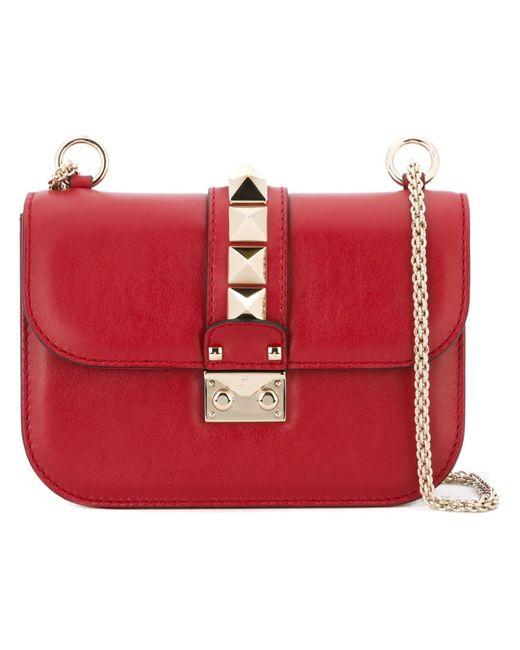 Valentino   Женская Красная Сумка На Плечо Glam Lock