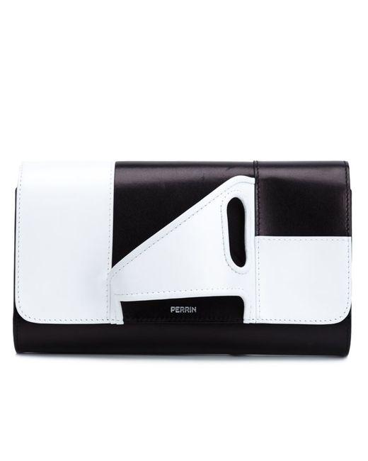 PERRIN PARIS | Женское Коричневый Glove Handle Colour Block Clutch