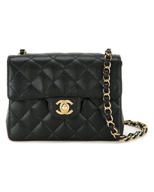 Chanel Vintage   Женская Чёрная Сумка На Плечо Мини