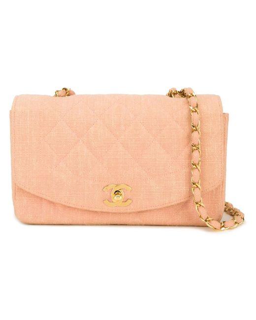 Chanel Vintage | Женская Розовая Сумка На Плечо Diana