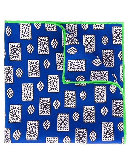 Kiton | Мужское Синий Medallion Print Pocket Square