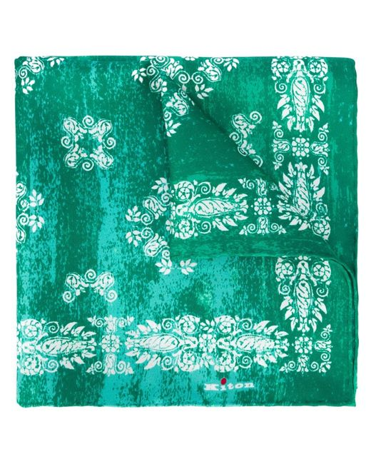 Kiton | Мужское Зелёный Bandana Print Pocket Square