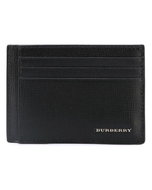Burberry   Мужская Чёрная Визитница С Бляшкой С Логотипом