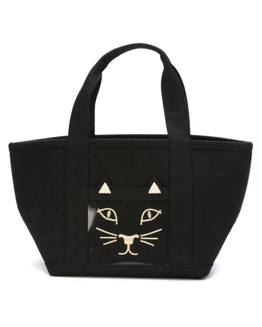 Charlotte Olympia | Женское Чёрный Embroidered Cat Tote