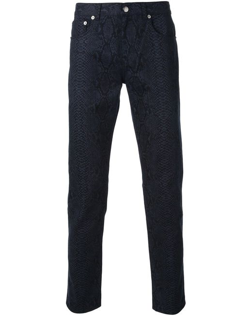 Christopher Kane | Мужское Синий Snakeskin Printed Trousers
