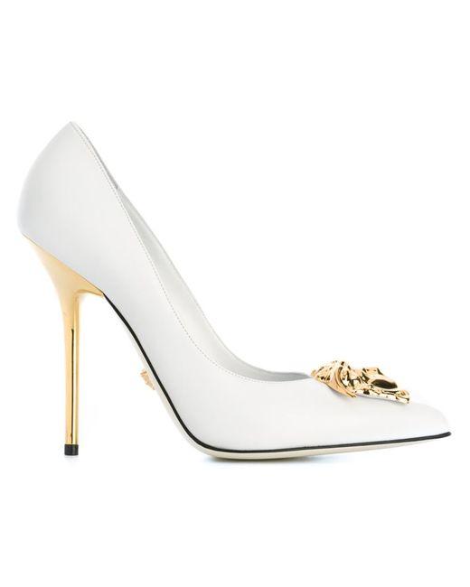 Versace | Женские Белые Туфли Medusa