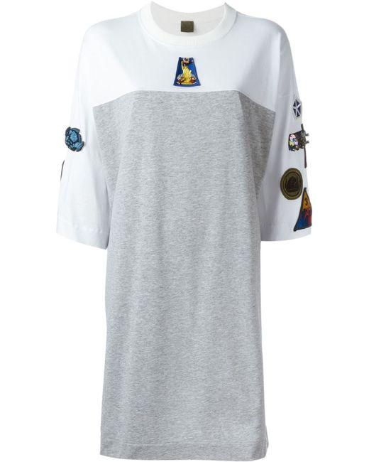MR & MRS Italy | Женское Серый Patch Oversized T-Shirt