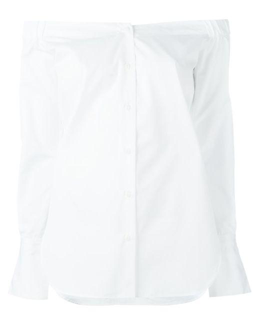 Rag & Bone | Женское Белый Off Shoulder Top