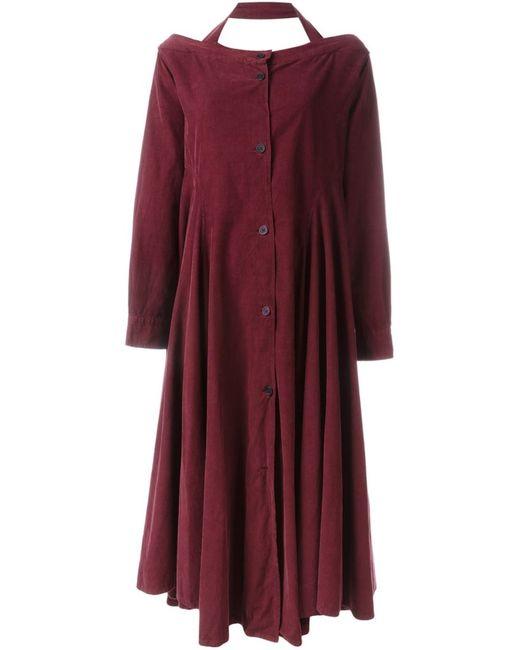 ROMEO GIGLI VINTAGE | Женское Красное Свободное Платье С Открытыми Плечами