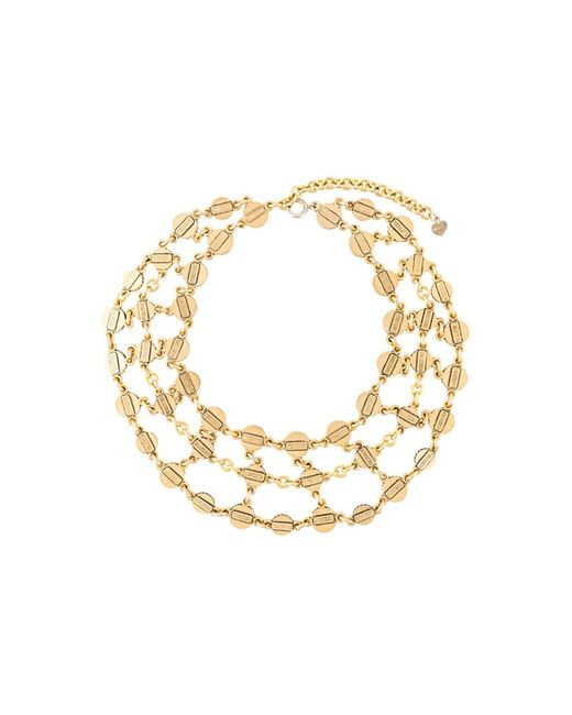 MOSCHINO VINTAGE | Женское Серебристое Ожерелье С Элементами Монет