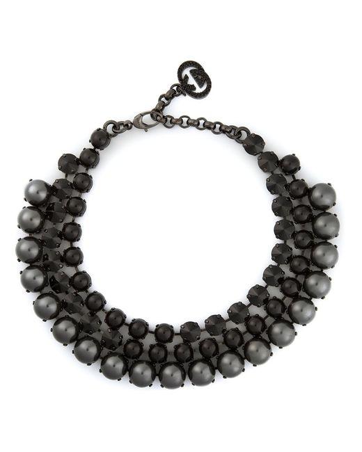 Gucci | Женское Чёрный Embellished Necklace