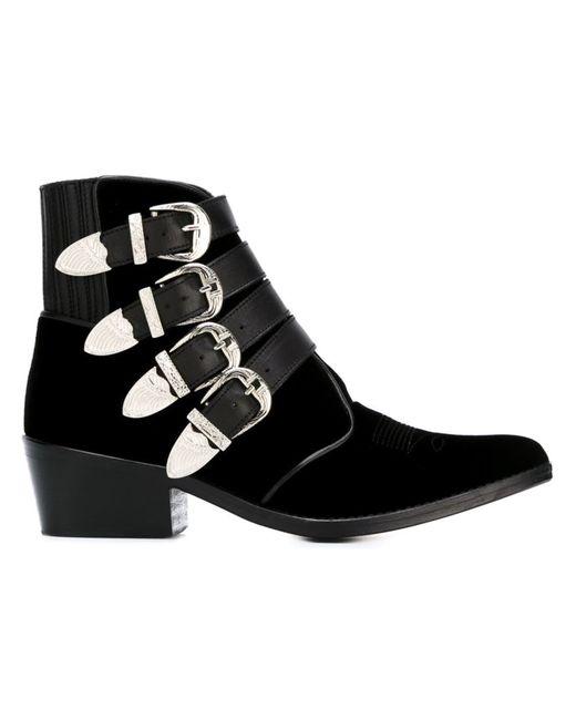 Toga | Женские Чёрные Ботинки С Ремешками На Пряжке