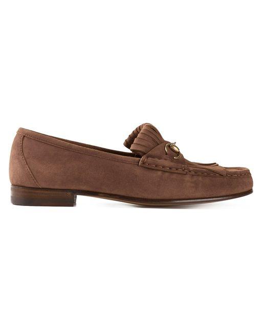 Gucci | Женское Коричневый Tasseled Loafers