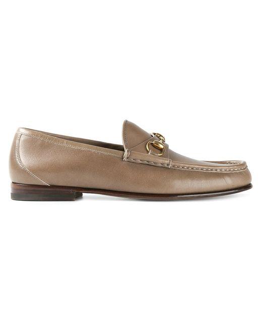 Gucci | Мужское Nude & Neutrals Horsebit Loafers
